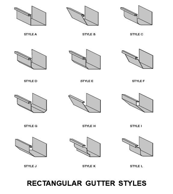 K Style Aluminum Gutters