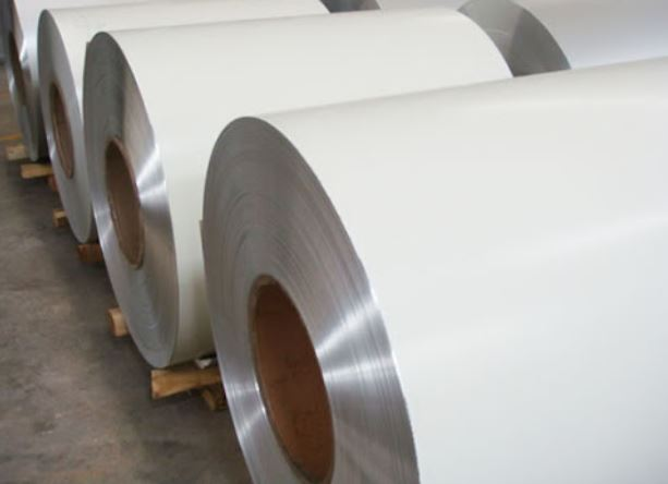 White coated aluminum coil