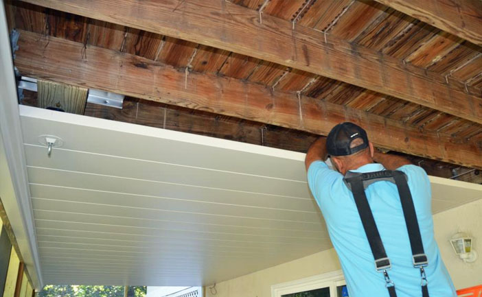 Deck Ceiling Drainage System Installation